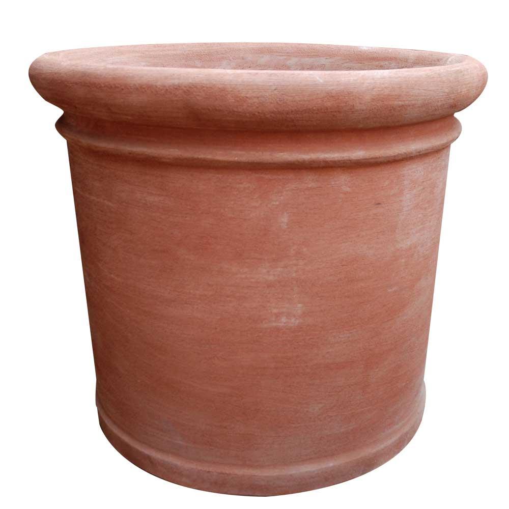 Italian Terracotta Cylinder Pot