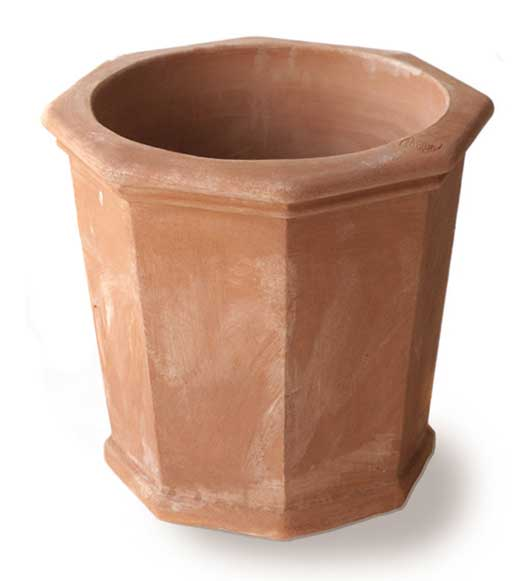Italian Terracotta Tall Octagonal Pot