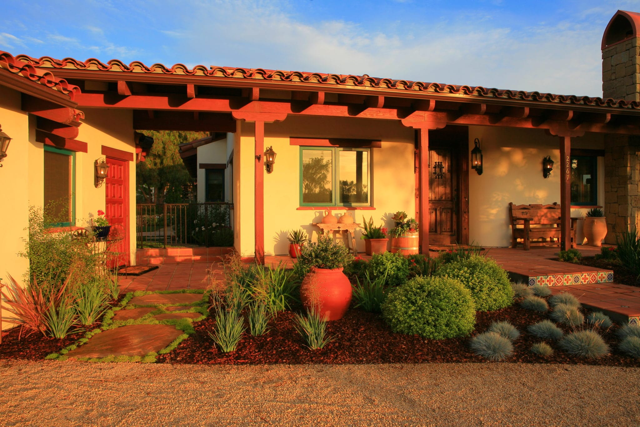 Eco friendly landscape design by lisa cox for hacienda for Spanish hacienda style