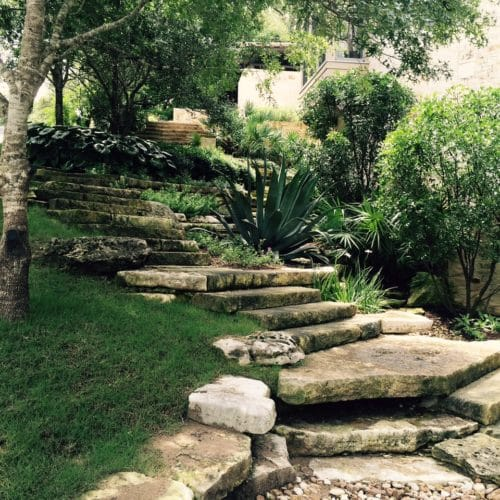 Eye of the Day Garden Design Center|Austin travel groundskeeping| limestone