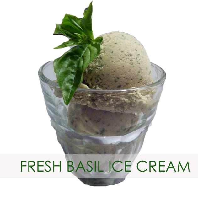 basil ice cream-garden recipe-gardens