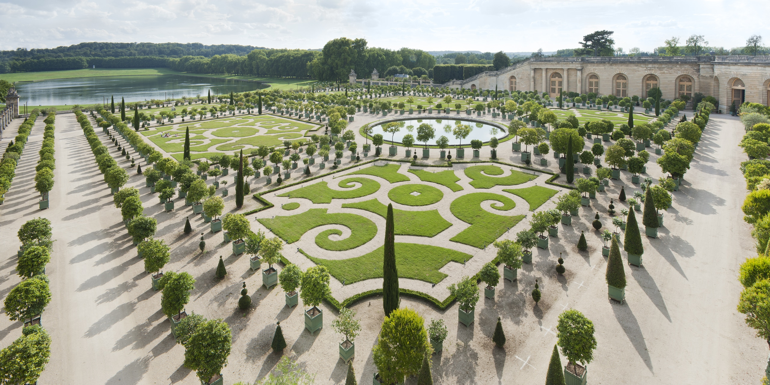 The Famous Orangerie In The Gardens At Versailles